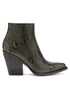 Chloé Rylee python-effect leather boots