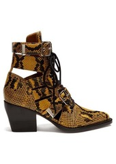 Chloé Rylee snake-effect leather ankle boots