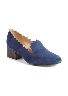Chloé Scallop Loafer Pump (Women)