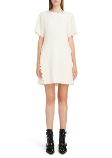 Chloé Scallop Trim Shift Dress