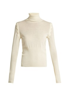 Chloé Scallop-trimmed wool sweater