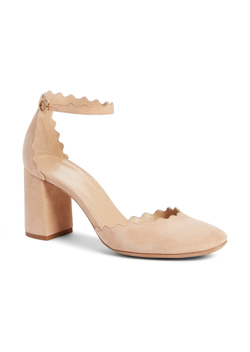 eee7008576db On Sale today! Chloé Chloé Scalloped Ankle Strap d Orsay Pump (Women)