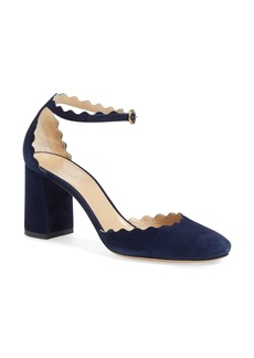 Chloé Scalloped Ankle Strap d'Orsay Pump (Women)