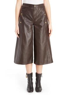 Chloé Seam Detail Leather Culottes
