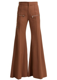 Chloé Serge high-rise wool-blend trousers