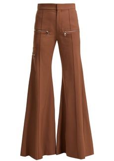 Chloé Serge high-rise wool-blend trousers