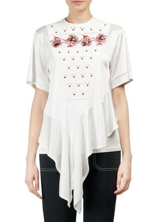 Chloé Short Sleeve Embroidered Bib Tee