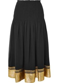 Chloé Silk-blend Chiffon And Lamé Skirt