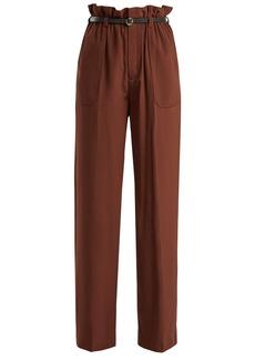 Chloé Silk crepe de Chine paperbag-waist trousers
