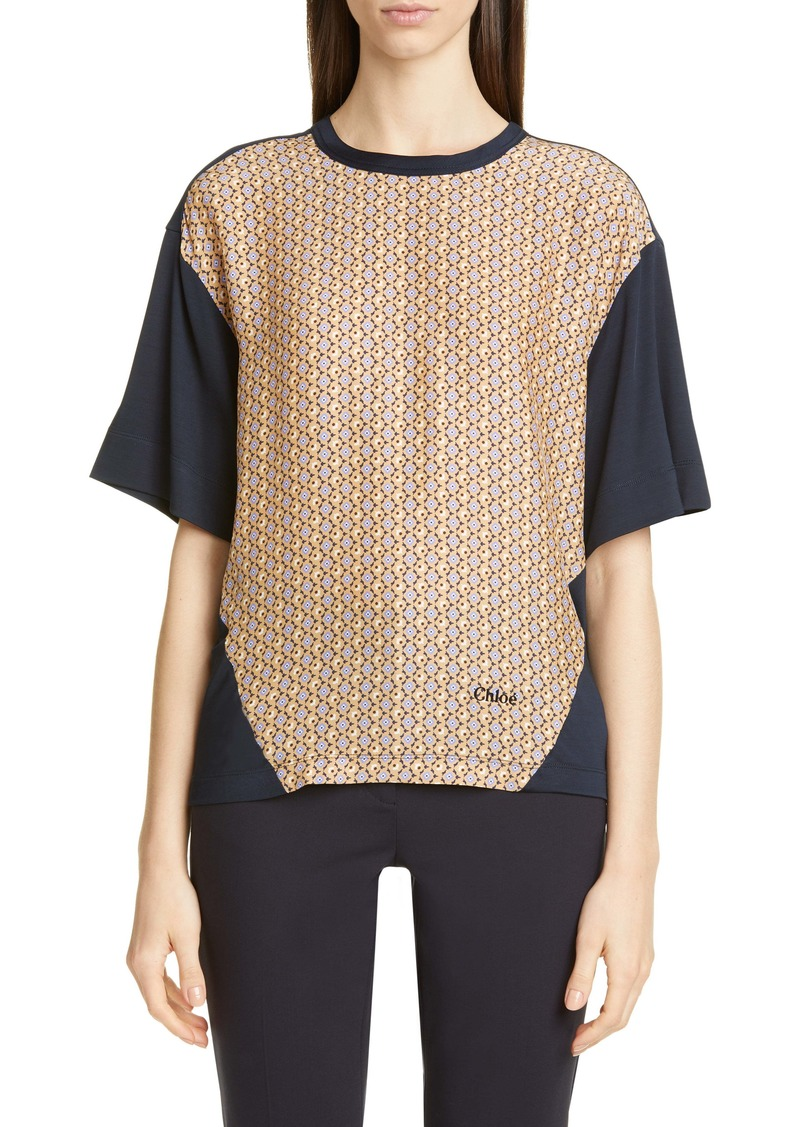 Chloé Silk Panel Top