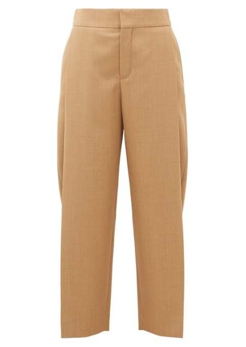 Chloé Single-pleat cropped wool trousers