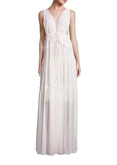 Chloé Sleeveless Pleated Gown
