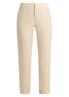 Chloé Slim-leg cady cropped trousers