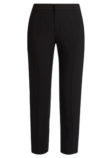 Chloé Slim-leg cady cropped trousers