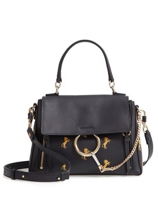 Chloé Small Faye Daye Embroidered Leather Shoulder Bag