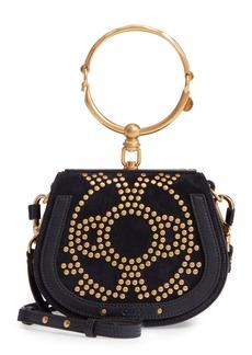 Chloé Small Nile Bracelet Studded Leather Crossbody Bag