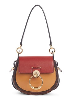 Chloé Small Tess Lizard Embossed Leather Shoulder Bag