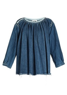 Chloé Smocked denim blouse