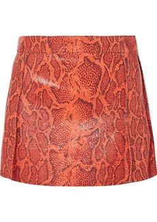Chloé Snake-effect Leather Mini Skirt