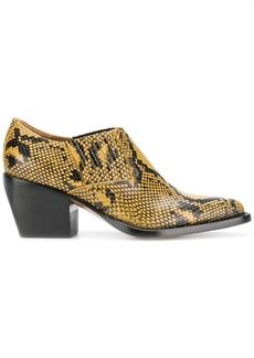 Chloé snake printed boots - Yellow & Orange