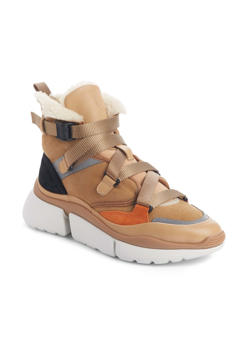 Chloé Sonnie Genuine Shearling High-Top Sneaker (Women)