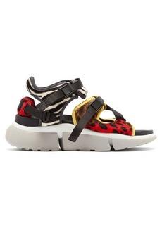 Chloé Sonnie leopard-print raised-sole trainer sandals