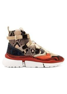 Chloé Sonnie raised-sole high-top trainers