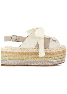 Chloé stacked sole espadrilles - White