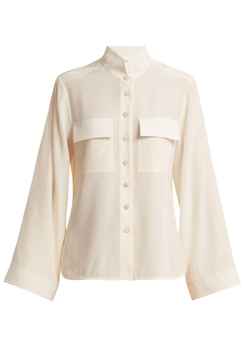 4cb234ef5e2687 Chloé Chloé Stand-collar silk crepe de Chine shirt | Casual Shirts