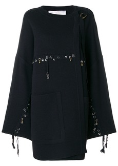 Chloé stitch and ring embellished jacket - Blue