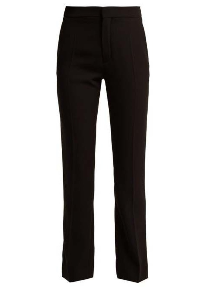 Chloé Straight-leg crepe trousers