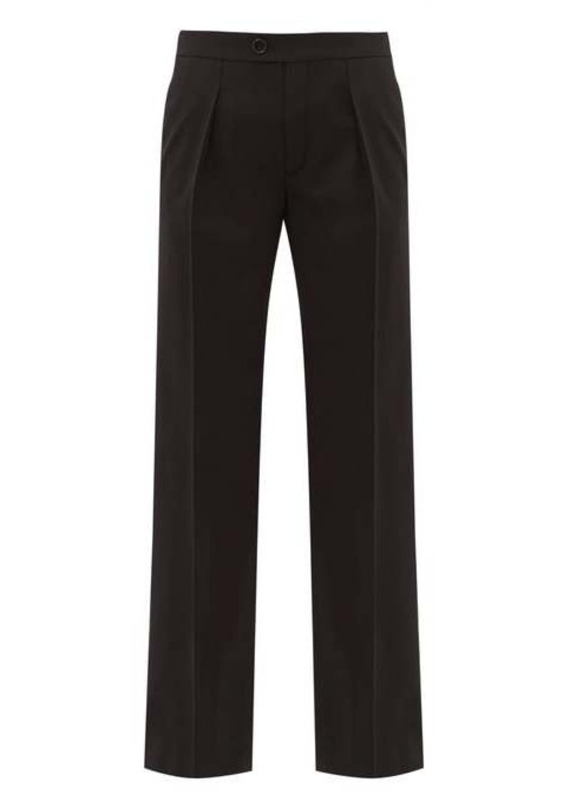 Chloé Straight-leg wool-blend trousers
