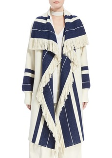 Chloé Stripe Blanket Coat