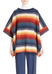 Chloé Stripe Felted Wool & Cashmere Poncho