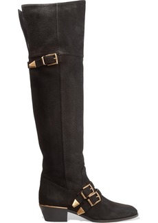 Chloé Susanna textured-leather over-the-knee boots