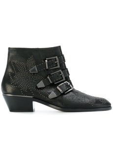 Chloé Susanne micro-stud booties - Black