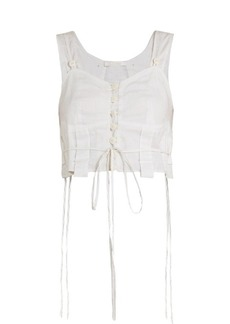 Chloé Sweetheart-neck cotton-voile cami top