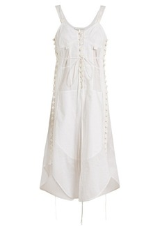 Chloé Sweetheart-neck voile dress