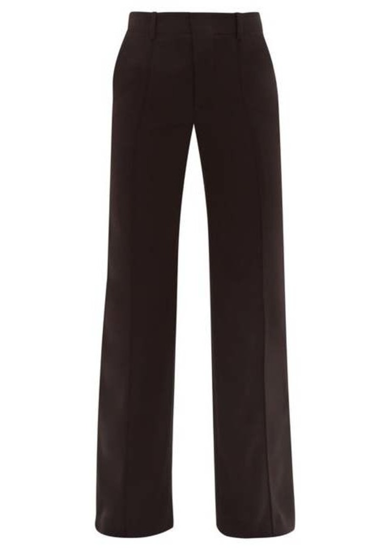 Chloé Tailored-flare crepe trousers