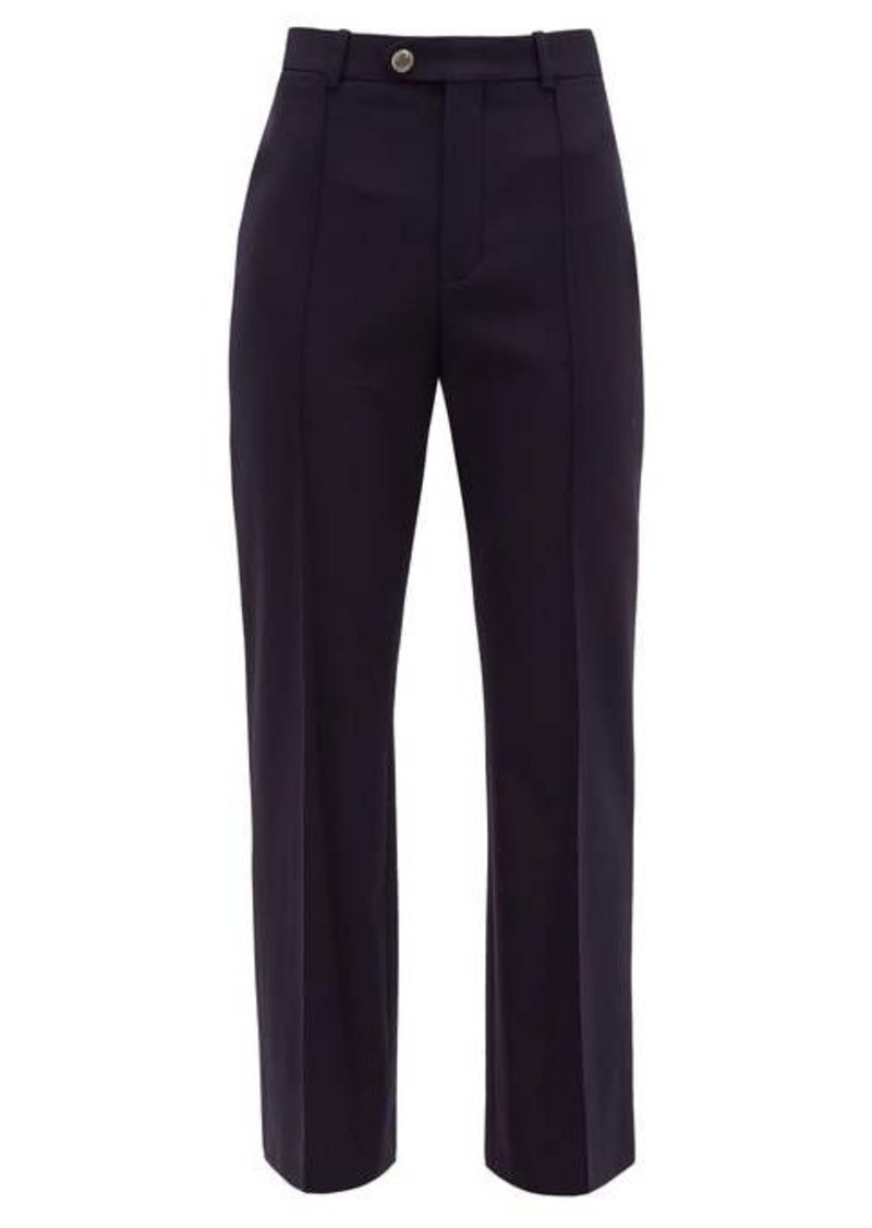 Chloé Tailored virgin wool-blend twill trousers