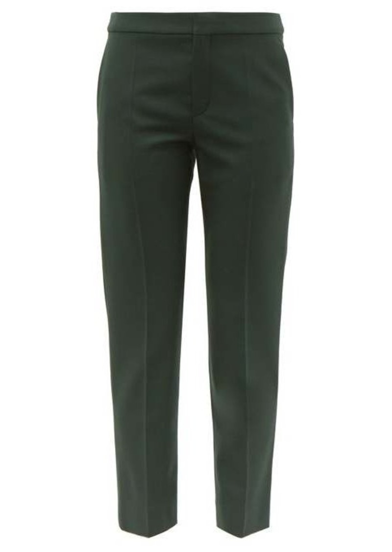 Chloé Tailored wool-blend cropped slim-fit trousers