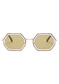 Chloé Tally hexagon-frame sunglasses