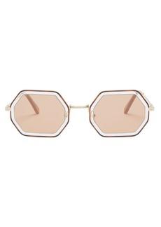 Chloé Tally octagon metal sunglasses