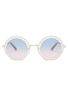 Chloé Tally scallop-edged metal sunglasses