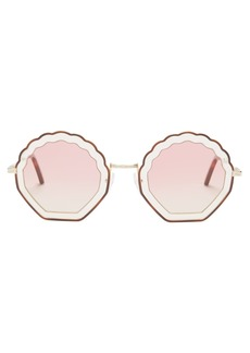 Chloé Tally shell-shaped sunglasses