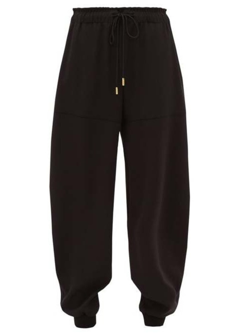 Chloé Tapered-leg crépe track pants