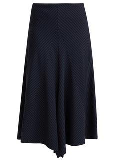 Chloé Tennis pinstriped wool skirt