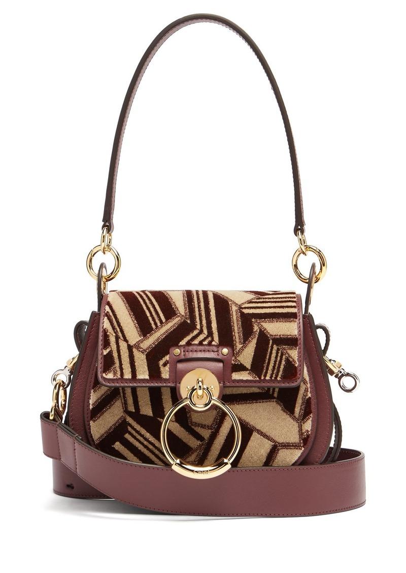 a4f0552f40 Chloé Chloé Tess geometric-print leather cross-body bag