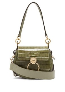 Chloé Tess small crocodile-effect leather cross-body bag