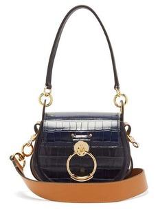 Chloé Tess small crocodile-effect leather cross-body bag
